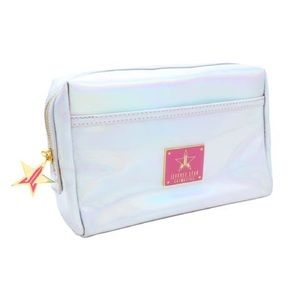 Jeffree star silver holographic makeup bag